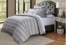 5pc Queen Duvet Set Gray