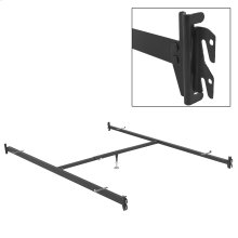 82-Inch 515/1 (90Q-1) Deluxe Full to Queen Conversion Bed Rails with Hook-On Brackets and Adjustable Center Support for Headboards and Footboards, Queen