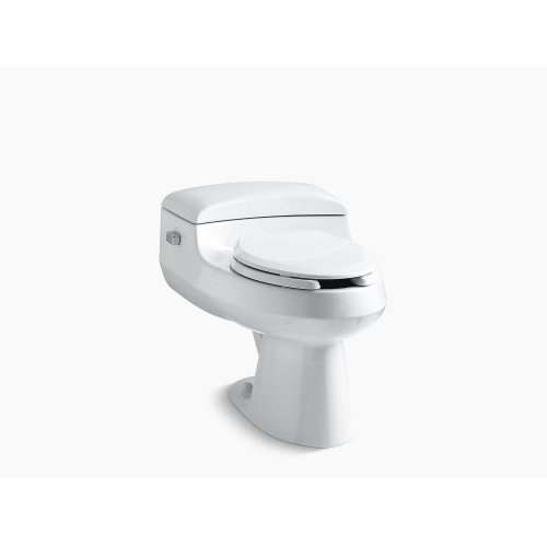 Black Black Comfort Height One-piece Elongated 1.0 Gpf Toilet With Pressure Lite Flushing Technology, Includes Seat