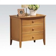 Maple 3 Drawer Nightstand
