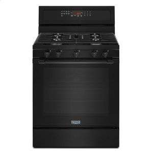 Maytag30-Inch Wide Gas Range With True Convection And Power Preheat - 5.8 Cu. Ft. Black