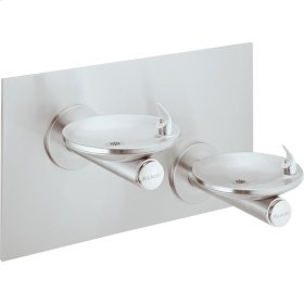 Elkay SwirlFlo Bi-Level Fountain Non-Filtered Non-Refrigerated, Freeze Resistant Stainless