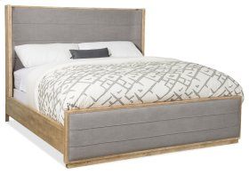 Bedroom Urban Elevation King Upholstered Shelter Bed