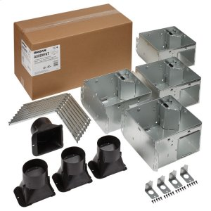 BroanFLEX Series Bathroom Ventilation Fan Only Housing Pack with Flange Kit