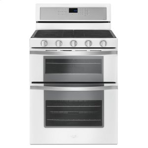 6.0 Cu. Ft. Gas Double Oven Range with EZ-2-Lift Hinged Grates - WHITE ICE