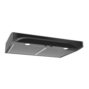 BroanAlta 1 30-inch 250 CFM Black Range Hood with light