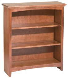 "GAC 36""H x 30""W McKenzie Alder Bookcase in Antique Cherry Finish"
