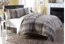 3 pc Queen Duvet Set Brown Product Image