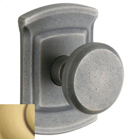 Satin Brass and Brown 5023 Estate Knob