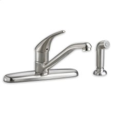 Colony Soft 1-Handle Kitchen Faucet with Separate Side Spray - Polished Chrome