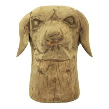 Wooden Dog Head