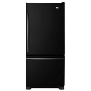29-inch Wide Bottom-Freezer Refrigerator with EasyFreezer Pull-Out Drawer -- 18 cu. ft. Capacity - Black - BLACK