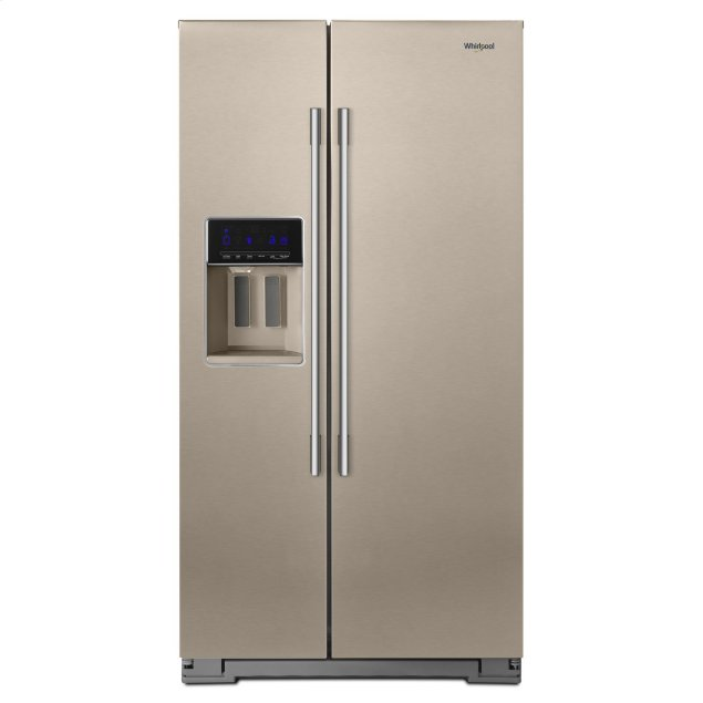 Whirlpool 36-inch Wide Contemporary Handle Counter Depth Side-by-Side Refrigerator - 21 cu. ft. Fingerprint Resistant Sunset Bronze