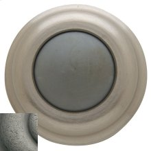 Distressed Antique Nickel Wall Flush Bumper