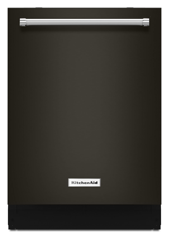 Kitchenaid Black44 Dba Dishwasher With Clean Water Wash System Black Stainless Steel With Printshield™ Finish