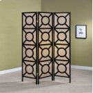 Transitional Cappuccino Folding Screen Product Image