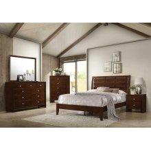 Serenity Rich Merlot King Five-piece Bedroom Set