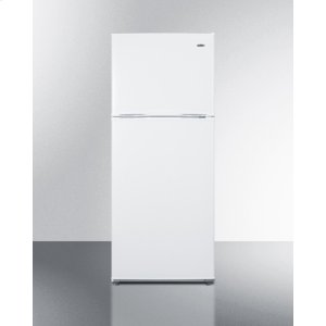 "Summit24"" Wide 9.9 CU.FT. Frost-free Refrigerator-freezer In White Finish With Factory Installed Icemaker"