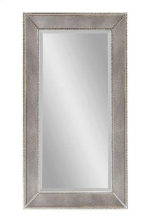 Antique Silver Beaded Mirror 36x48