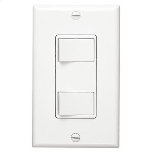 Broan2-Function Control, White, 15 amp, 120V