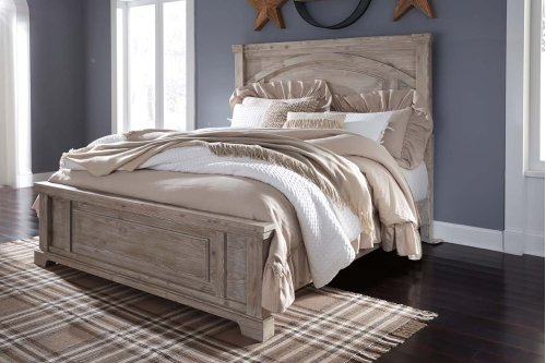 Charmyn - White Wash 3 Piece Bed Set (Cal King)