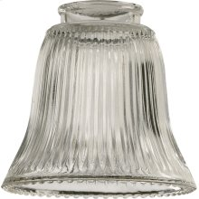 2.25'' CLEAR RIBBED BELL