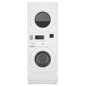 WhirlpoolCommercial Electric Stack Washer/Dryer, Non-Vend White