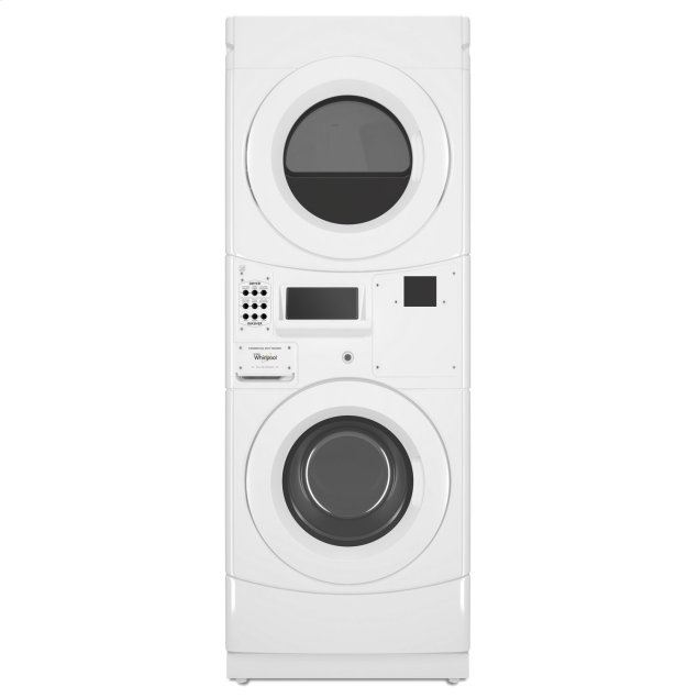 Whirlpool Commercial Electric Stack Washer/Dryer, Non-Vend White