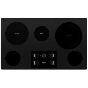 36-inch Electric Ceramic Glass Cooktop with Two Dual Radiant Elements - BLACK
