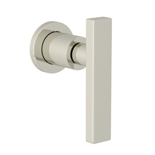 Polished Nickel Pirellone Trim For Volume Control And Diverter