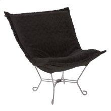 Scroll Puff Chair Angora Ebony