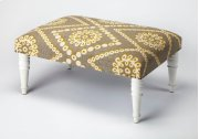 Use this Upholstered Cocktail Ottoman as a seat or as a footstool in your living or entertainment area. With its substantial surface area, it can also be used as a coffee table. Its mango wood solids legs support a stylish, upholstered urethane foam and Product Image