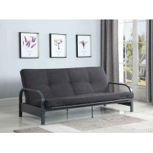 Dark Grey Metal Futon Frame