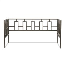 Miami Metal Daybed Frame with Squared Tubing and Geometric Design, Coffee Finish, Twin