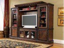 North Shore - Dark Brown 4 Piece Entertainment Set
