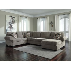 Ashley Furniture Jinllingsly - Gray 3 Piece Sectional