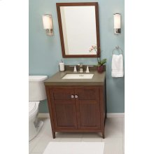 "Briella 30"" Bathroom Vanity Cabinet Base in White"