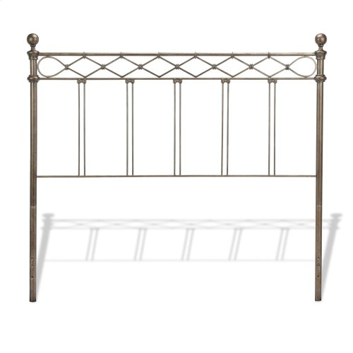 Argyle Complete Bed with Round Finial Posts and Diamond Wire Metal Grill Design, Copper Chrome Finish, California King
