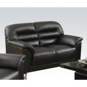 Black Pu Loveseat Product Image
