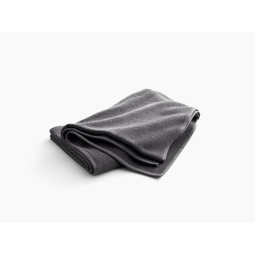 """Thunder Grey Bath Sheet With Textured Weave, 35"""" X 70"""""""