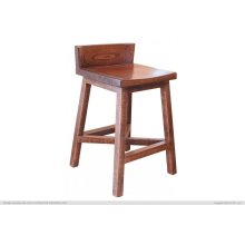 """24"""" Stool - with wooden seat & base"""