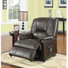 BWN PU RECLINER W/LIFT&MASSAGE