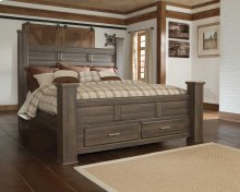 Ashley King Poster Bed with Storage