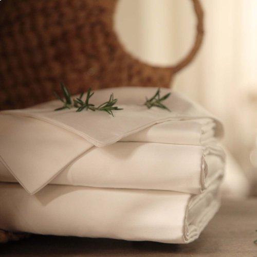 Sleep Plush + White 3-Piece 500 Thread Count Cotton Bed Sheet Set, Twin XL