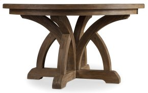 Dining Room Corsica Round Dining Table w/1-18in Leaf