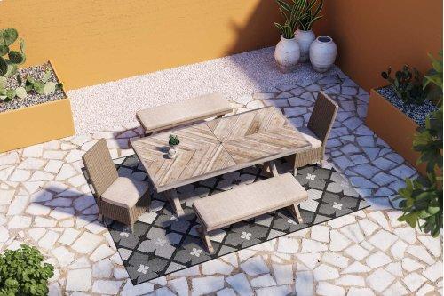 Beachcroft - Beige 4 Piece Patio Set