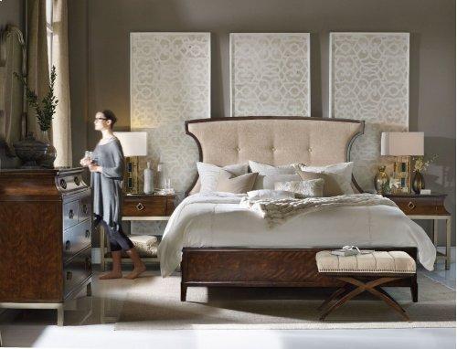 Bedroom Skyline King Upholstered Panel Bed