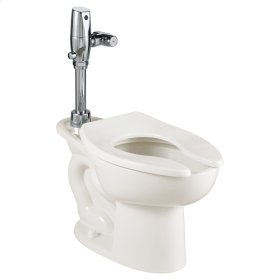 Madera Toilet with Selectronic Battery Flush Valve System - White