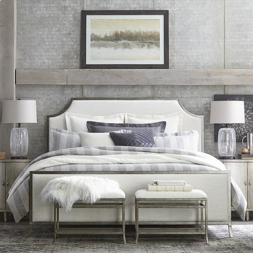 King Palisades Upholstered Panel Bed