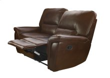 Galaxy Brown Leather Reclining Loveseat (Sofa Not Available)